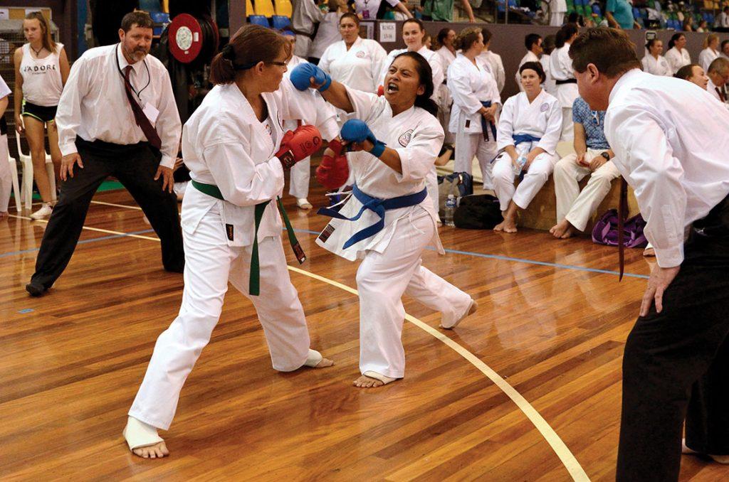 High karate punch at GKR Karate Australian National Championships