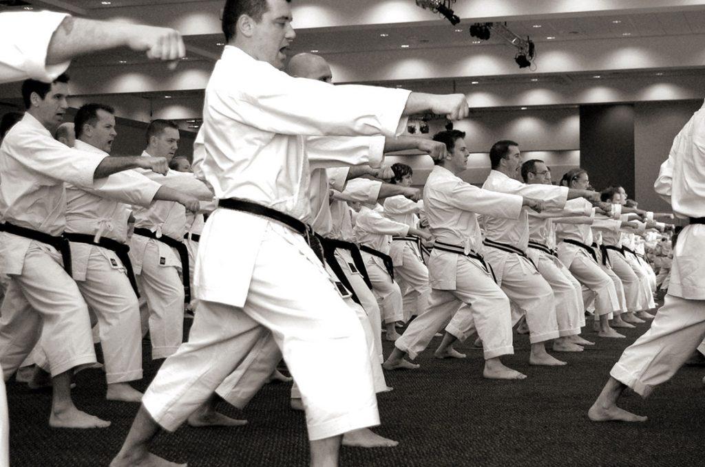 Black belt Group Punch