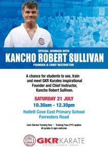 Adelaide Kancho Robert Sullivan Seminar Flyer