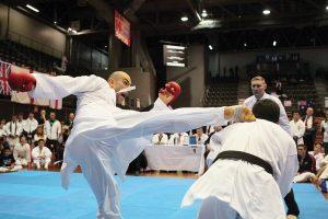 GKR Karate Sensei Ashley Fleming peforming a kick
