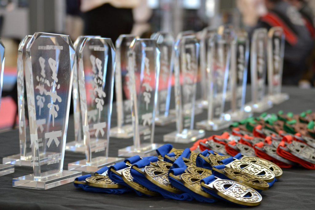 Medals and Tropies from GKR NSW Black Belt Open