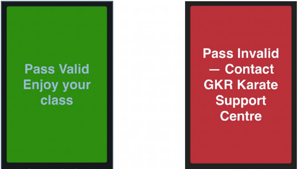 GKR Karate direct debit scanning examples