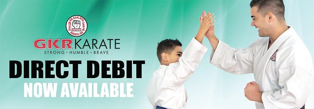 GKR Karate Direct Debit Training Fees Banner