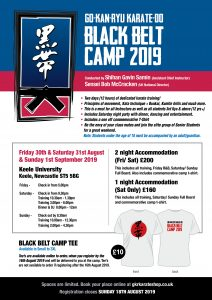 GKR Karate UK Black Belt Camp Flyer