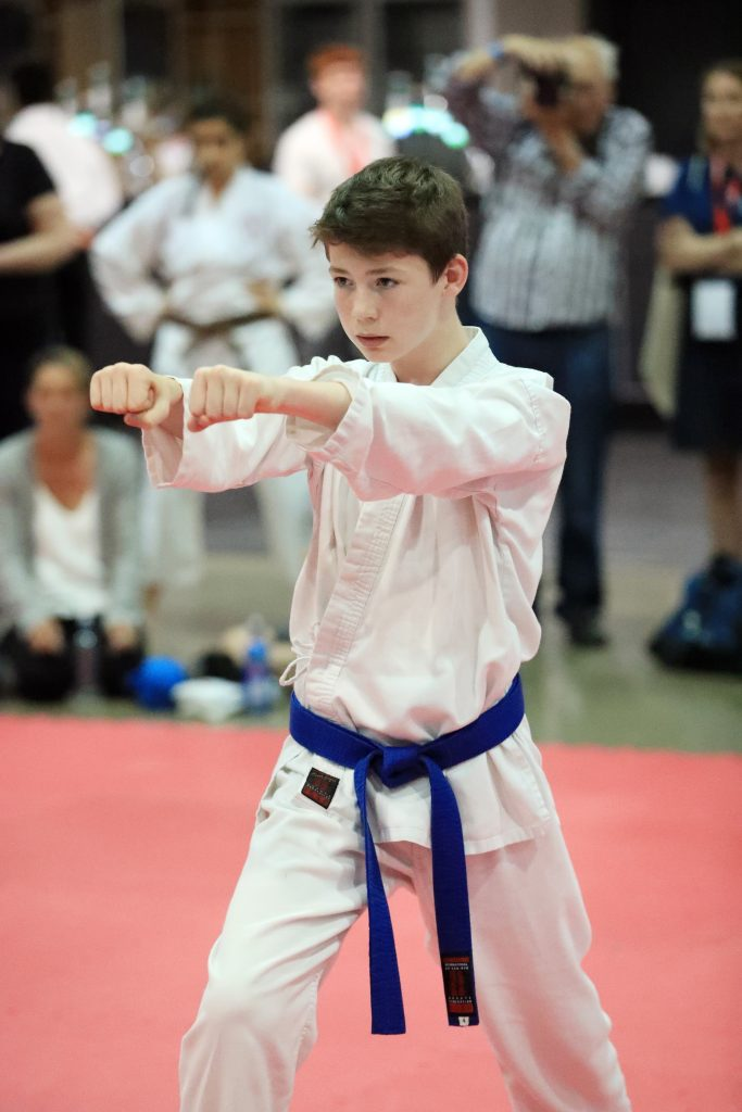 Harry Simms in Action at the GKR Karate World Cup