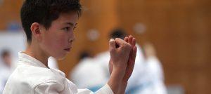 GKR Karate student focusing
