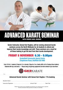 Advanced Karate Seminar