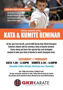 Bushfire Appeal - Kata and Kumite Seminar