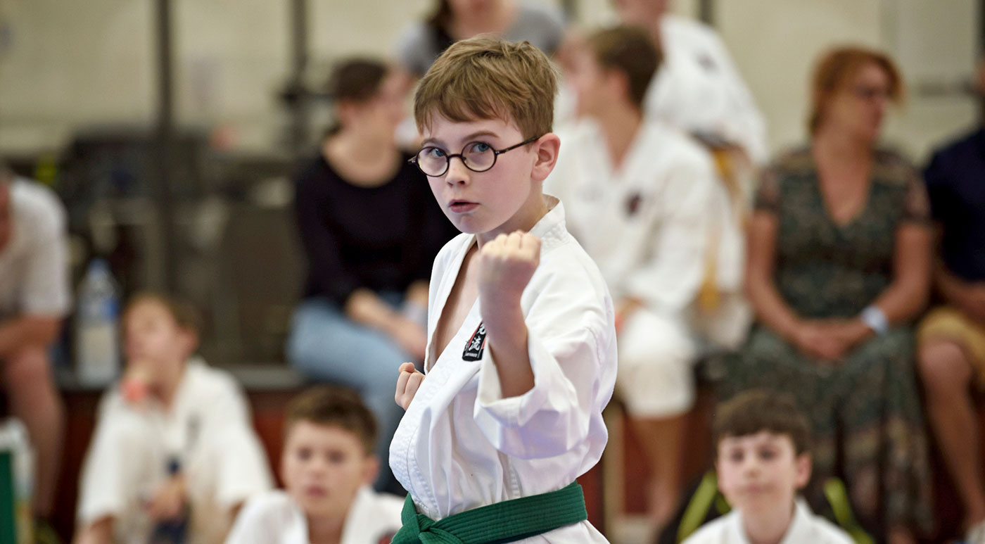 Karate is the ideal sport for children for building self-confidence, balance, coordination, discipline and social skills.